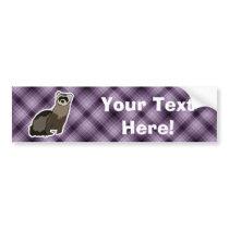 Purple Ferret Bumper Sticker