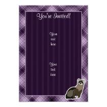 Purple Ferret Invitation
