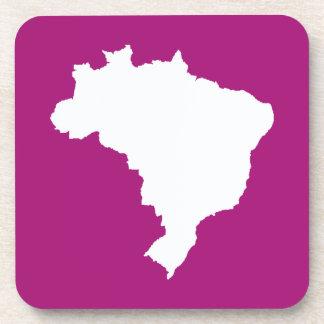 Purple Festive Brazil at Emporio Moffa Drink Coaster