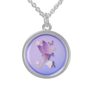 Purple Fibro Awareness Necklace