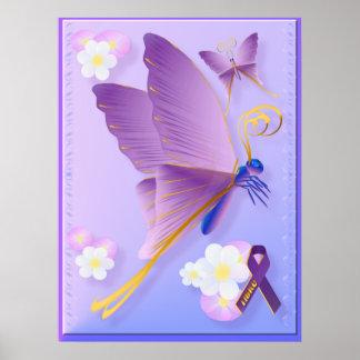 Purple Fibro Awareness Poster
