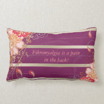 Purple Fibromyalgia Lumbar Throw Pillow