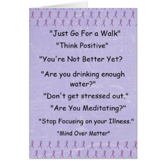"Purple Fibromyalgia ""Things I Wont Say""   Card"