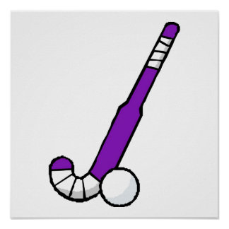 Purple Field Hockey Stick Print