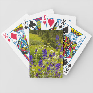 Purple Field Bicycle Playing Cards