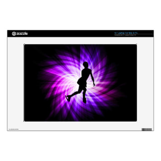"""Purple Figure Skating Decal For 13"""" Laptop"""