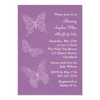 Purple Filigree Butterflies Card