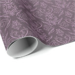 Purple Filigree Damask 2 - Wrapping Paper