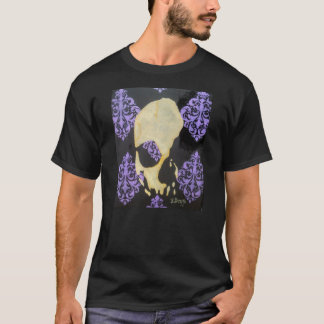 purple filigree skull T-Shirt