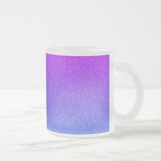 Purple Filigree Vines Frosted Glass Mug