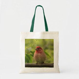 Purple Finch Tote Bags