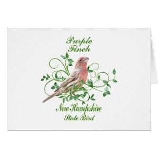 Purple Finch New Hampshire State Bird Card