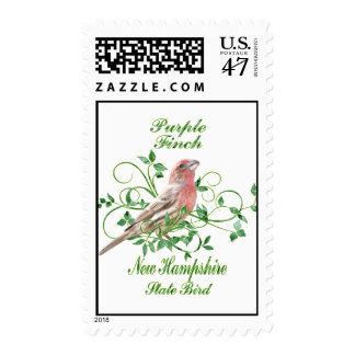 Purple Finch New Hampshire State Bird Postage