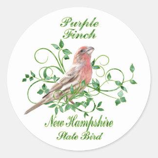 Purple Finch New Hampshire State Bird Round Stickers