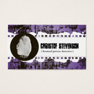 Purple Fingerprint Private Detective Business Card
