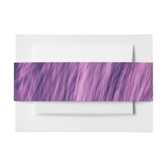 Purple Fir Fractal Invitation Belly Band