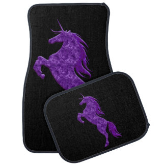 Purple Fire Unicorn Car Mats