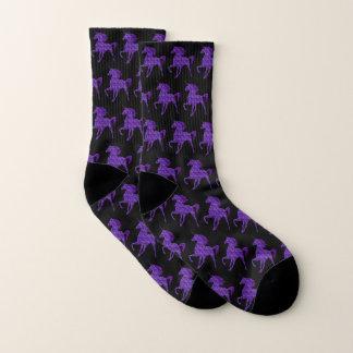 Purple Fire Unicorn Socks