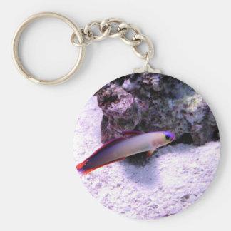 Purple Firefish Basic Round Button Keychain