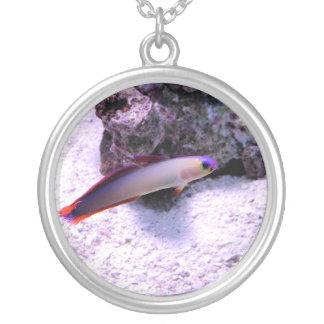 Purple_Firefish Round Pendant Necklace