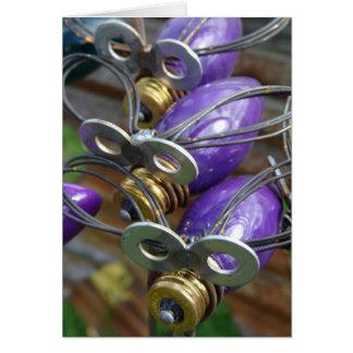 Purple Fireflys Card