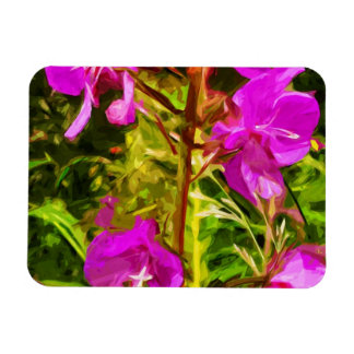 Purple Fireweed Alaska Wildflower Abstract Magnet