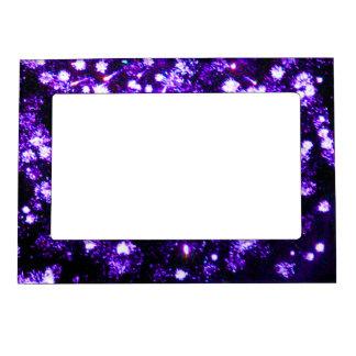 Purple Fireworks Burst Magnetic Photo Frame
