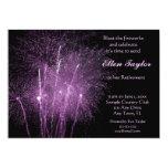 Purple Fireworks Retirement Party Invitation