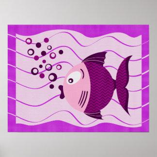 Purple Fish Composition Canvas Print