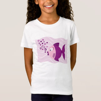 Purple Fish Composition Girls T-shirt