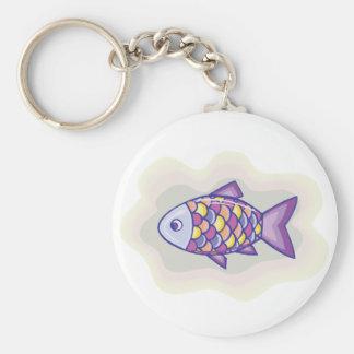 Purple Fish Keychain