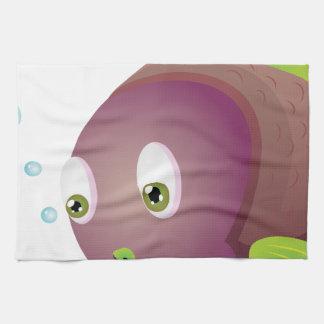 Purple Fish Kitchen Towel
