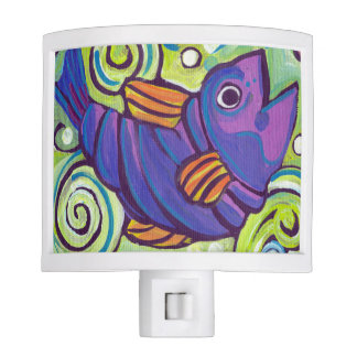 Purple Fish Night light