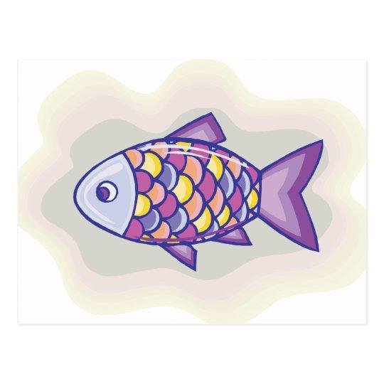 Purple Fish Postcard