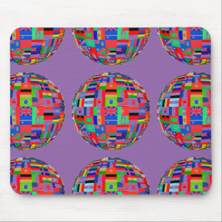 Purple Flags of The World Mouse Pad