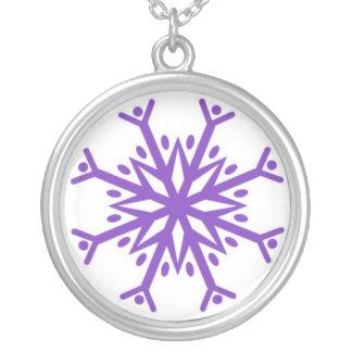 Purple Flake Pendant
