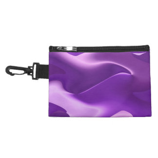 Purple flame abstract art accessory bags