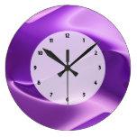 purple flame abstract wall clocks