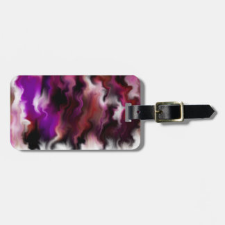 Purple Flames Luggage Tags
