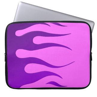 Purple Flames Pink Neoprene Laptop Sleeve
