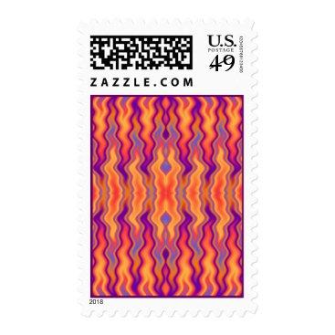 linda_mn Purple Flames Postage