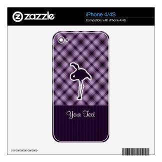 Purple Flamingo Decal For The iPhone 4S