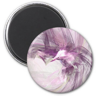 Purple flare 2 inch round magnet