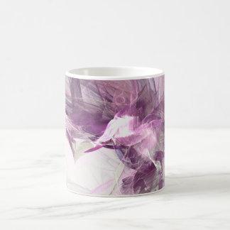 Purple flare classic white coffee mug