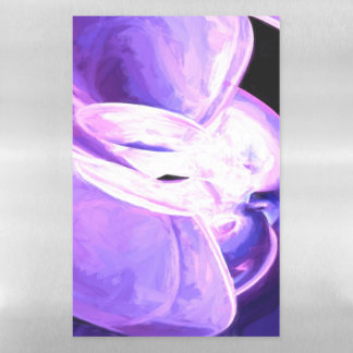 Purple Flare Painted Abstract Magnetic Dry Erase Sheet