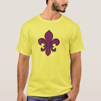 Purple Fleur de lis - Basic t-shirt