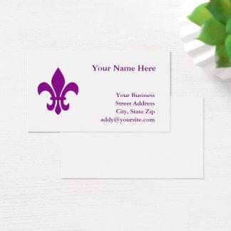Purple Fleur de Lis Business Card