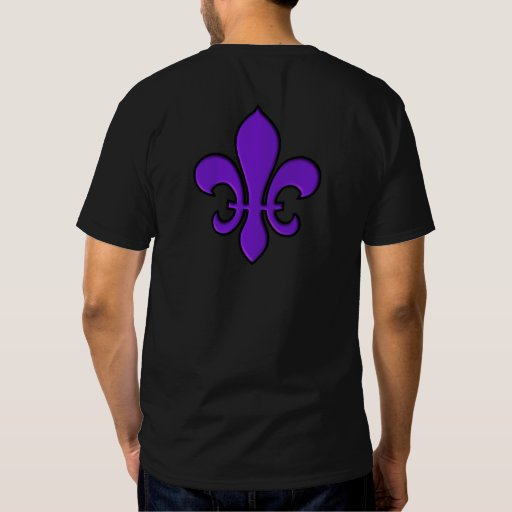 Purple Fleur de lis - Dark t-shirt