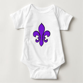 Purple Fleur de lis - Infant Creeper