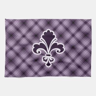 Purple Fleur de lis Hand Towels